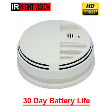 720p hd XtremeLife Smoke Detector Hidden Camera with night vision