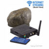 battery powered internet streaming outdoor rock hidden camera with quad view